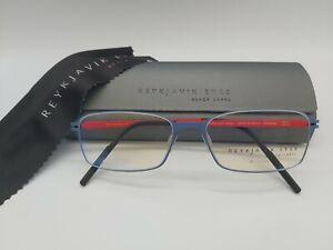 REYKJAVIK EYES black label SAGA eyeglasses glasses frame col.3 blue and red *NEW