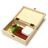 Unpainted Natural Wooden Tool Storage Box Memory Small Chest Craft Box Gifts