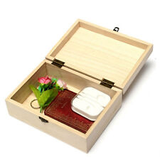 Plain Unpainted Natural Wooden Tool Storage Little Box Memory Small Chest Craft