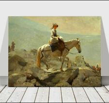 WINSLOW HOMER - The Bridle Path White Mountains -CANVAS ART PRINT POSTER -12x8""
