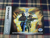 CT Special Forces - Authentic - Nintendo Game Boy Advance - GBA - Manual Only!