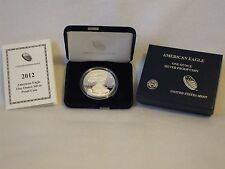 2012-W Proof American Silver Eagle Coin  - One Troy oz .999 Bullion