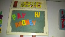 Vintage 1972 Fisher Price School Days Desk Magnetic Letters & Stencils