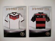 Fußball WM-Magnet Trikots Weltmeister 2014 Heim Auswärts WC Deutschland 4.Stern
