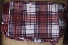 Woolrich Tasha Flannel Sheet Set Red White Brown 100% Cotton Made in Turkey