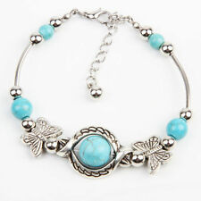 Turquoise Unbranded Tibetan Silver Costume Bracelets