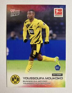 2020 TOPPS NOW #45 YOUSSOUFA MOUKOKO RC BUNDESLIGA Record Youngest Player Ever