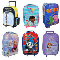 Kids & Disney Character School Travel Trolley Roller Wheeled Bag Brand New Gift