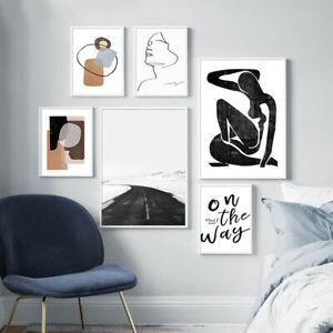 Contemporary Art Print Abstract Canvas Poster Line Drawing Picture Home Decor