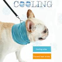 Dog Cooling Bandana Pet Chill Ice Scarf Summer Collar Puppy Small Medium Large