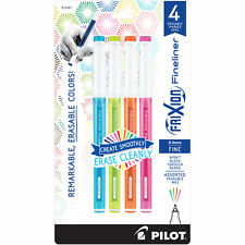 Pilot Frixion Fineliner Erasable Marker Pen Fine Point 4 Asst Fashion Colors