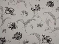 Tulipa EBONY Stampa Floreale Designer Curtain Tappezzeria ARTIGIANALE 100% COTONE TESSUTO