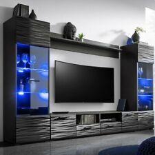 Wohnwand Modica Wohnzimmer-Set Anbauwand Schrankwand Wohnzimmer Kollektion M24