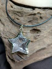 clear Quartz Raw Stone star shaped Necklace crystal healing master healer