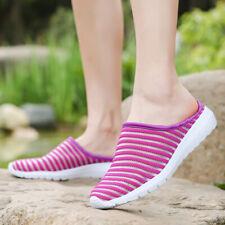 Женские сетка, сандалии тапочки ходьбы шнуровки половина обувь пляж спортивные сандалии