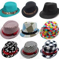 Baby Girls Boy Toddler Kid Cap Fedora Hat Jazz Cap Photography Cotton Trilby Top