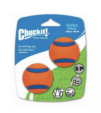 Chuckit Ultra Ball Dog Toy High Visibility Durable Small 2 Pack Fetch Play New