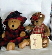 Nwt Boyds Bears Lizzie Wishkabibble With Book, Signed & Evelyn Plush