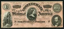 USA Confederate States of America 1864, 100 Dollars, UNC