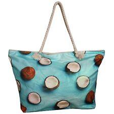 Bolso de playa Tropical Coco Con Fruta Shopper Grande Bolsos Cocos Tote Brillo
