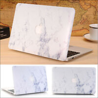 """2in1 White Marble Matte Hard Case Cover for MacBook air pro 11"""" 13"""" (2010-2020)"""