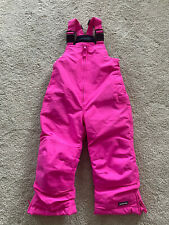Lands' End Kid's Pink Squall Winter Snow Bibs Ski Pants Toddler Girl's Size 3T