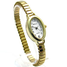 Ravel Ladies Easy Read Oval Quartz Watch Expanding Bracelet Gold #01 R0201.01.2