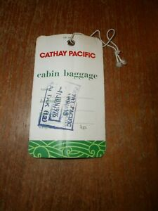 Cathay Pacific Cabin Baggage Label 'Kai Tek 1976'