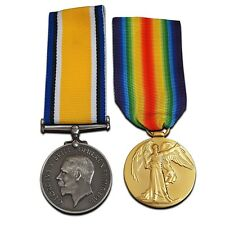 More details for british war medal + victory medal pair high quality reproduction full size ww1