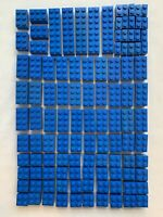 Lego Spares - 105x Blue 2x8 2x4 2x3 2x2 2x1 Classic Bricks / Blocks - City/ Town