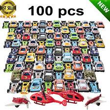 Racing Cars Set Race Car Lot Toy Box for Boys Children Christmas Gift 100 Pcs