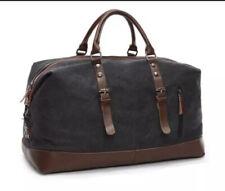 Large Travel Duffel Bag Denim. New! Pockets & Zipper Blue