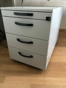Steelcase Rollcontainer Lang Grau | Büroschrank, Schreibtischschrank, Schubladen
