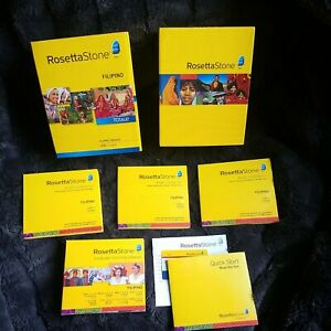 Rosetta Stone Filipino Tagalog Learning Level 1 & 2 - Includes Key Card