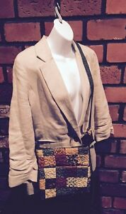 NWT Donna Sharp Quilted Puzzle Purse Spice Hipster  Very Nice