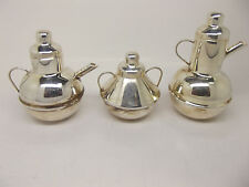 Sterling Silver Miniature Doll House Tea Coffee Set
