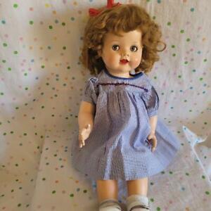 "RARE BENT KNEE IDEAL 22""  Saucy WALKER Toddler DOLL-Flirty Eyes- Redressed"