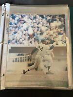 RARE Vintage 8x10 color photo of Willie Mays official MLB merchandise