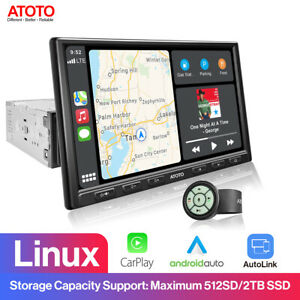 ATOTO F7 Pro Car Stereo 1-DIN 8in HD Touch Screen with Steering Wheel Controller