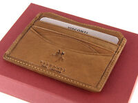 Visconti Mens Genuine Veg Tanned Leather Wallet For Credit Cards, Notes - DRW25