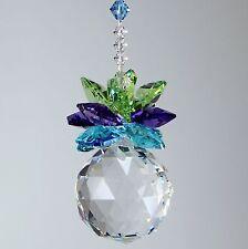 m/w Swarovski Crystal 30mm Ball & Peacock Color Octagons * Pineapple Sun Catcher
