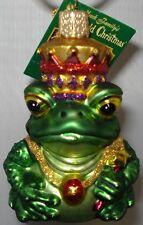Frog King Ornament Glass Old World Christmas 12010 10