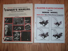 TROY-BILT HORSE 2 TILLER OPERATOR /  PARTS LIST MANUALS