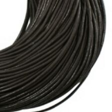 3M or 10M Genuine Leather Round Thong Cord - 1mm 1.5mm 2mm 3mm 4mm