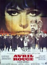 """AVRIL ROUGE (DAYS OF FURY)"" Affiche originale (Claudia CARDINALE, Oliver REED)"