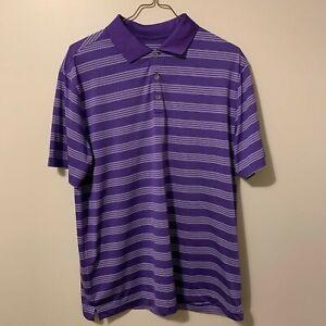Purple Men's XL Nike Golf Tour Performance Dir-Fit Short Sleeve Collared Polo