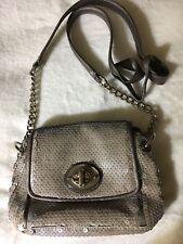 Coach Grey Sequin Groovy Crossbody Designer Handbag