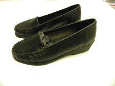 chaussures neuve 36 noir bleu bonheur cuir senior femme petit talon 4cm c11