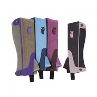 Tough 1 Childs Size Medium Synthetic Luxury Suede Half Chaps in Purple 63-69