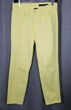 Calvin Klein Womens 27/4 Yellow Green Skinny Fit Ankle Crop Jeans